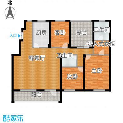 江户雅致151.99㎡A-4户型3室2厅2卫