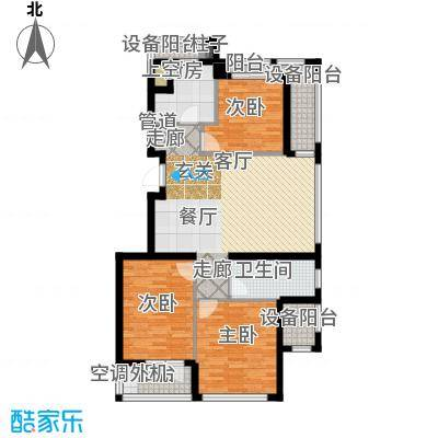 绿城沈阳全运村110.00㎡A'户型 三室两厅一卫户型3室2厅1卫