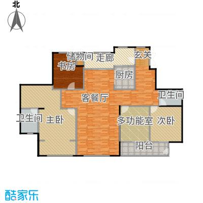 SR国际新城220.85㎡A户型3室1厅2卫