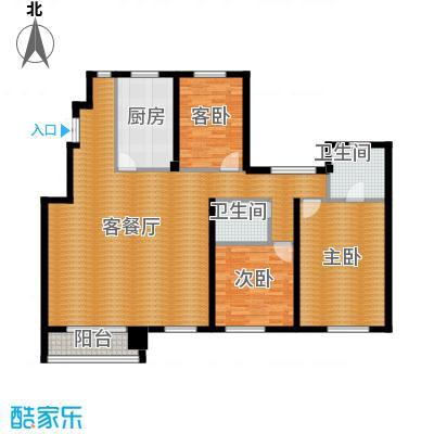 江户雅致142.31㎡A-5户型3室2厅2卫