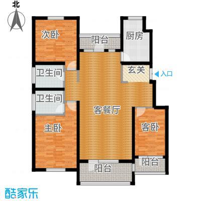 江户雅致147.97㎡B-3户型3室2厅2卫