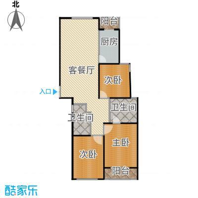 瑞宝国际花苑157.16㎡G3户型3室2厅2卫