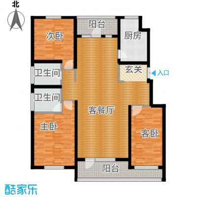 江户雅致151.10㎡B-2户型3室2厅2卫