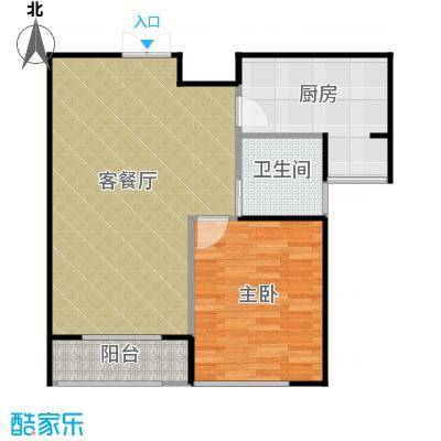 瑞宝国际花苑82.00㎡A户型1室2厅1卫