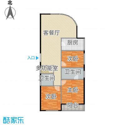 瑞宝国际花苑158.00㎡G1户型3室2厅2卫