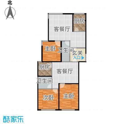 瑞宝国际花苑156.98㎡G2户型3室2厅2卫