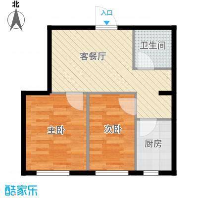 世纪枫景汇58.79㎡E户型2室1厅1卫