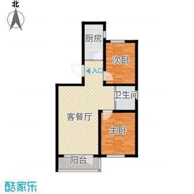 汇水湾86.00㎡1-3户型2室2厅1卫