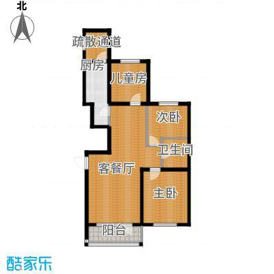 格林馨港湾114.00㎡N户型3室2厅1卫