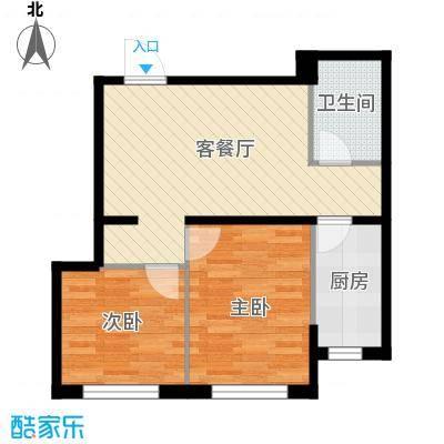世纪枫景汇65.28㎡B户型2室1厅1卫