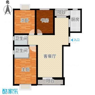 伯爵源筑117.00㎡D户型3室2厅2卫
