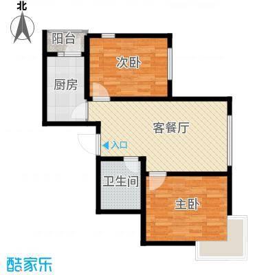汇水湾75.00㎡5-2户型2室2厅1卫