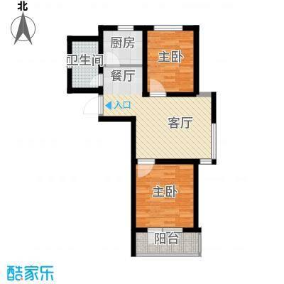 汇水湾70.00㎡3-3户型2室2厅1卫