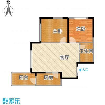 轻�小筑73.00㎡A-2偶数层户型2室2厅1卫