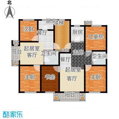 名仕雅居72.90㎡M户型 二室二厅一卫户型2室2厅1卫