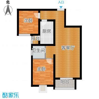北郡帕提欧93.86㎡1、5、11、13、14号楼B户型2室2厅2卫