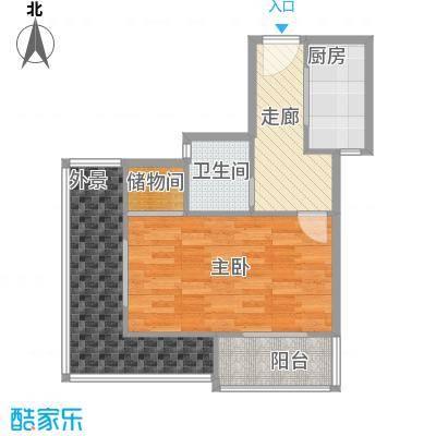 郑和国际广场52.35㎡04栋32层-k1-2套型户型10室