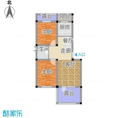 泰莱16区87.13㎡3#楼/2层户型2室1卫1厨