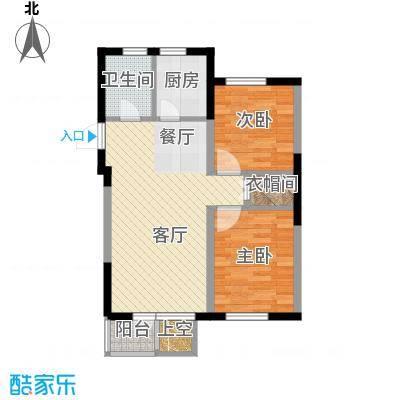 泰莱16区78.36㎡14#楼/奇数层A户型2室1厅1卫1厨
