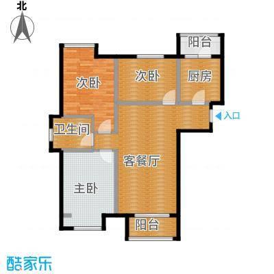 亿丰南奥国际117.44㎡户型3室2厅1卫