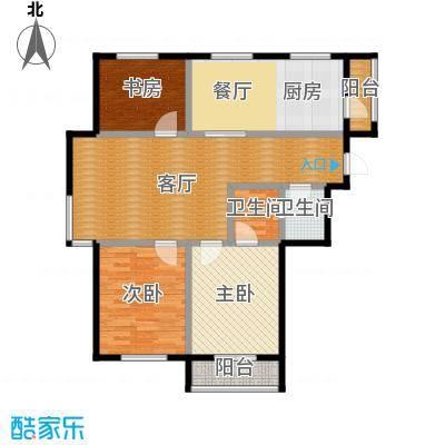 亿丰南奥国际123.00㎡户型3室2厅2卫