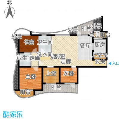 名流公馆153.29㎡6号楼A3户型4室2厅2卫