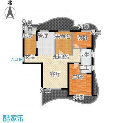 名流公馆136.25㎡6号楼A1户型3室2厅2卫