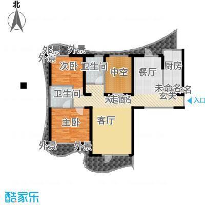 名流公馆135.41㎡7号楼A4户型3室2厅2卫