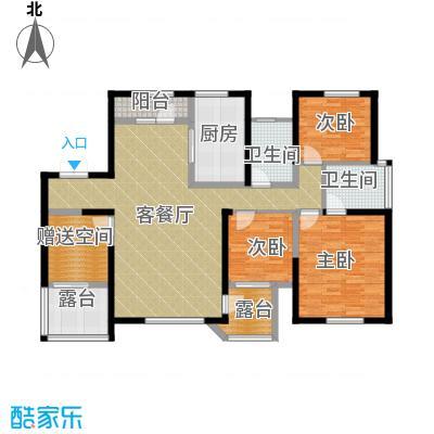 名流公馆136.89㎡22号楼B6户型4室2厅2卫