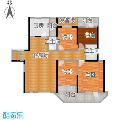 名流公馆130.56㎡11号楼A6户型4室2厅1卫