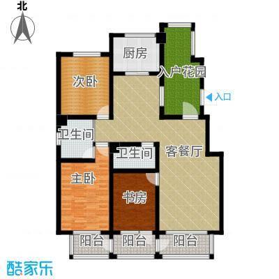 坤泰新界142.00㎡户型3室1厅2卫1厨