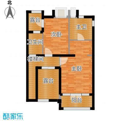 �灞半岛133.00㎡DF叠拼别墅东户6层户型3室2厅3卫