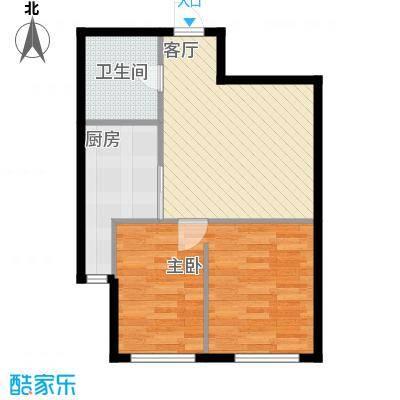 新华国际公寓60.94㎡C户型10室
