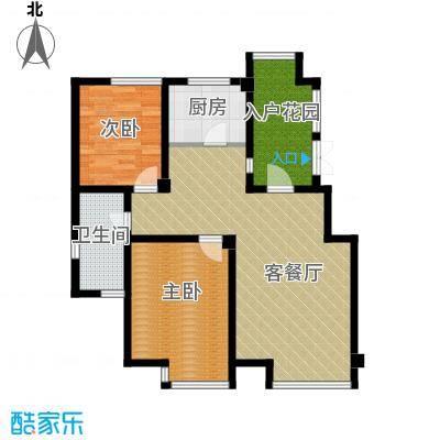 坤泰新界92.43㎡住宅-户型2室1厅1卫1厨