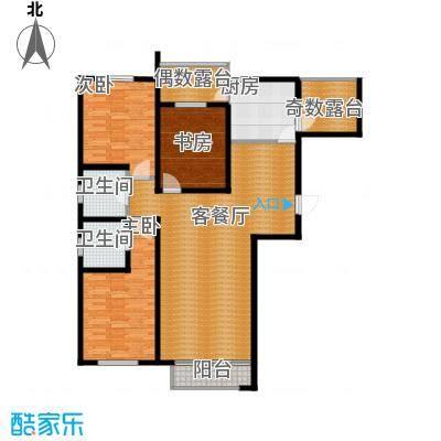 坤泰新界133.40㎡户型3室1厅2卫1厨