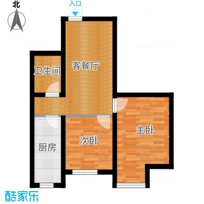 泰莱枫尚53.60㎡户型10室