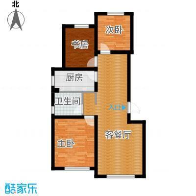 雍华御景92.60㎡户型3室2厅1卫