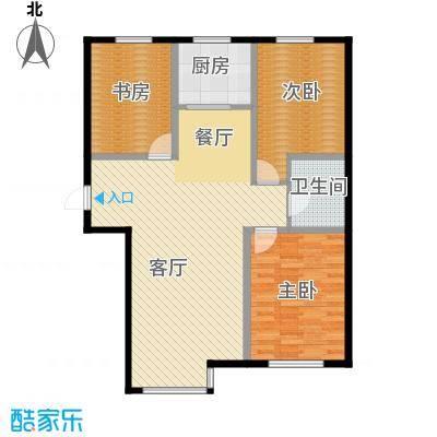 雍华御景102.10㎡户型3室2厅1卫