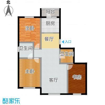 雍华御景109.60㎡户型3室2厅2卫