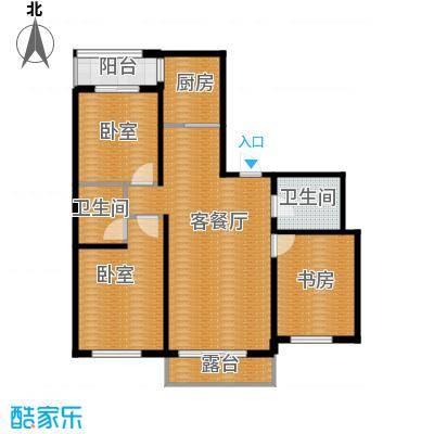 雍华御景103.40㎡户型3室2厅3卫