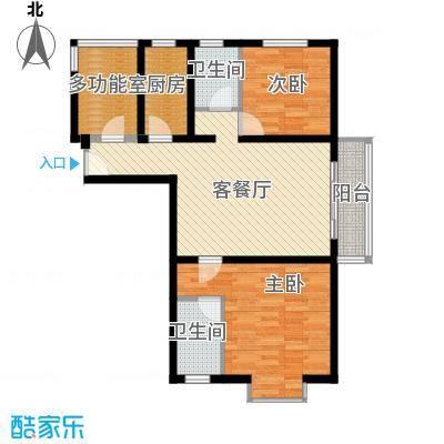 东亚国际城118.00㎡8#C户型2室1厅2卫1厨