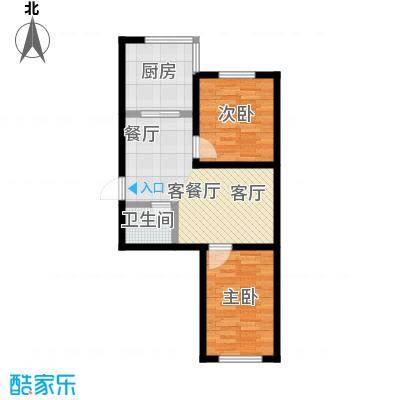 瀛滨寓家园瀛滨寓家园户型图2室1厅1卫1厨(10/18张)户型10室