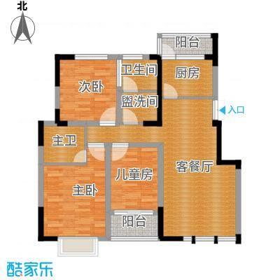 嘉逸岭湾96.48㎡户型10室