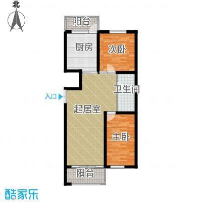 天悦国际87.85㎡M2E/D参考使用面积7605户型2室1厅1卫