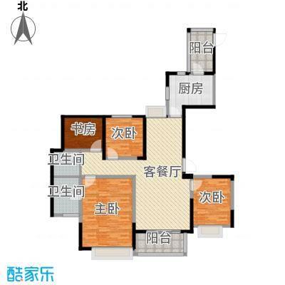 金地东城御院139.00㎡高层A'户型10室