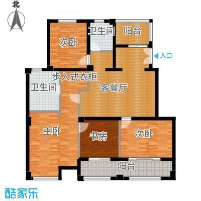 金地东城御院130.85㎡F上层户型10室