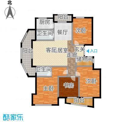 丁香花园167.00㎡三期紫庭B户型10室