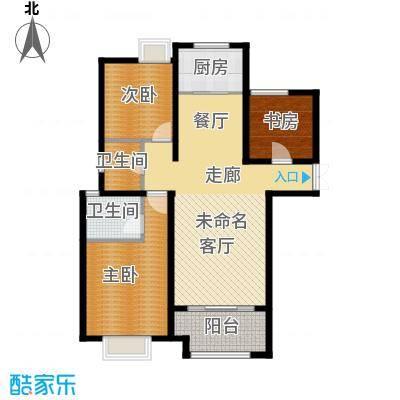 白鹭湾125.00㎡D户型3室2厅2卫