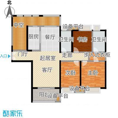 九方城G1-2户型 三室两厅户型3室2厅2卫