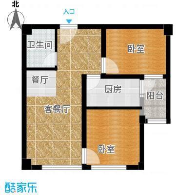 国际总部花园82.00㎡A3户型2室2厅1卫
